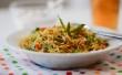 Vegetable Biryani and Raita