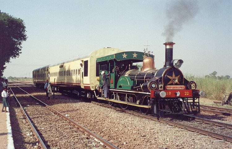 The fairy queen express running.